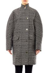 Balenciaga Cristobal Layered Tweed Coat - Lyst