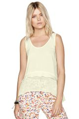 BCBGeneration Paneled Flounce Top - Lyst