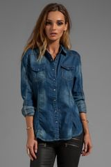 Blanknyc Denim Shirt  - Lyst