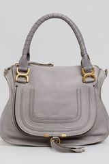 Chloé Marcie Medium Shoulder Bag Gray - Lyst