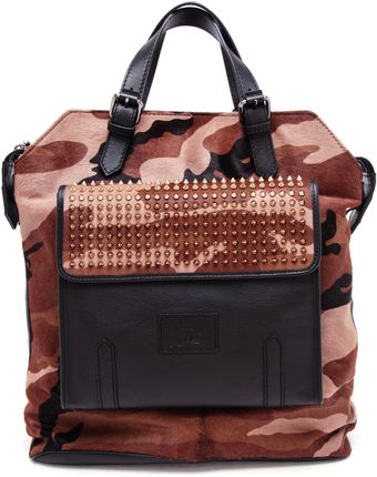 Christian Louboutin Camouflage Ponyskin and Leather Backpack - Lyst