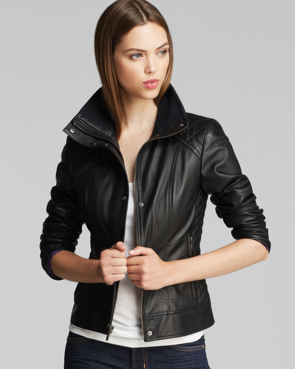Cole haan leather jackets