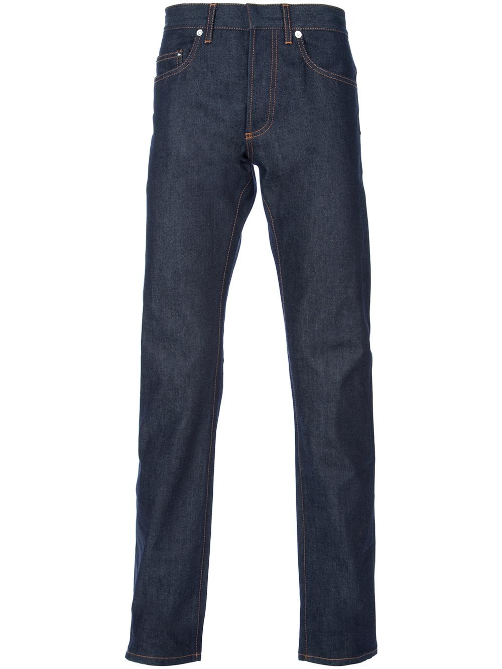 lyst dior homme slim fit jean in blue for men. Black Bedroom Furniture Sets. Home Design Ideas