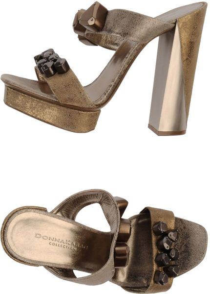 Donna Karan New York Sandals In Gold Lyst