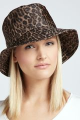 Eric Javits Waterrepellant Leopardprint Rain Hat - Lyst