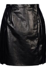 Ermanno Scervino Leather Skirt - Lyst