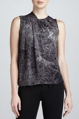 Halston Heritage Sleeveless Blouse with Shoulder Drape - Lyst
