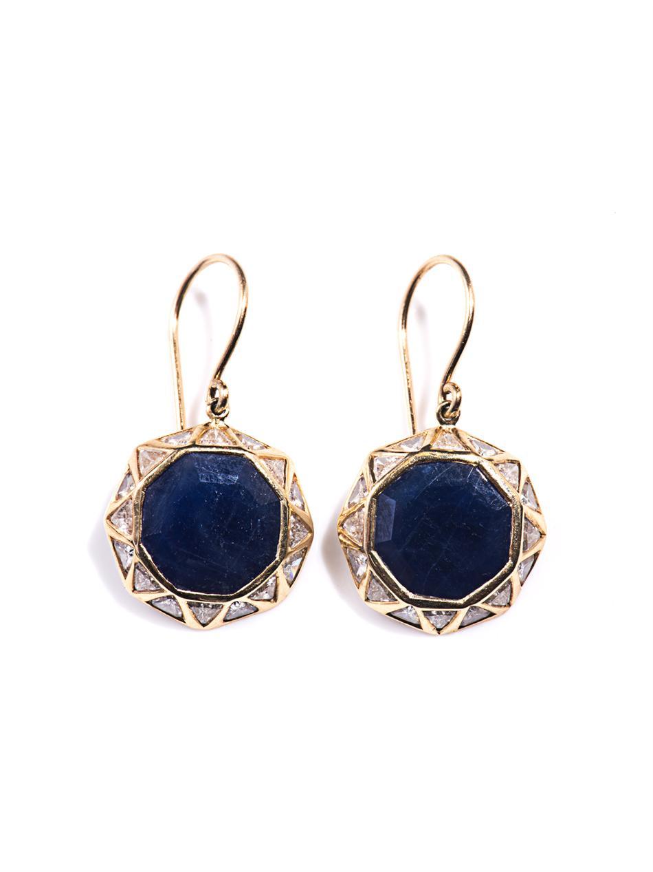 Jade Jagger Diamond Sapphire Gold Earrings in Gold