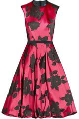 Lanvin Belted Floraljacquard Dress - Lyst