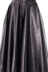 Lulu & Co Metallic Full Pleated Skirt - Lyst