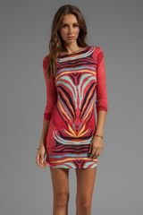 Mara Hoffman Scoop Back Mini Dress in Red - Lyst