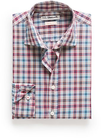Mango Slim-fit Check Shirt - Lyst