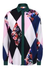 MSGM Long Sleeve Shirt - Lyst