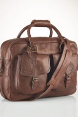 Polo Ralph Lauren Leather Commuter Bag - Lyst