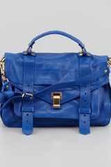 Proenza Schouler Ps1 Medium Leather Satchel Bag Blue - Lyst