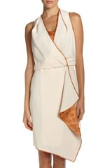 Rachel Roy Cascade Crepe Dress Iced Peach - Lyst