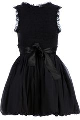 RED Valentino Ruched Bow Detail Dress - Lyst