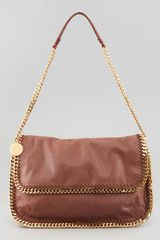 Stella McCartney Falabella Flap Messenger Bag Maple - Lyst