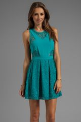 Style Stalker Bball Lace Dress in Teal - Lyst