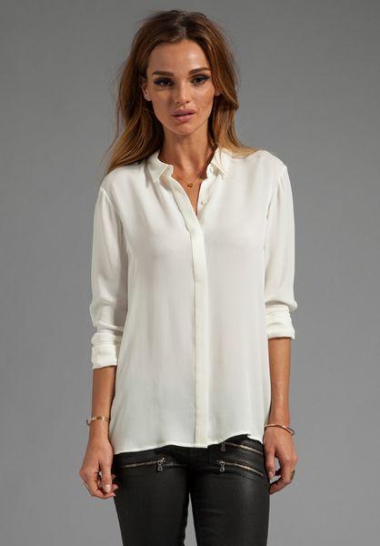 Silk White Blouse 102