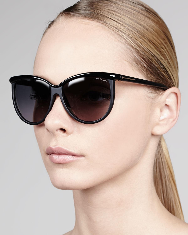 Lyst Tom Ford Josephine Enamel Sunglasses Black In Black