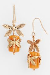 Tory Burch Dragonfly Drop Earrings - Lyst