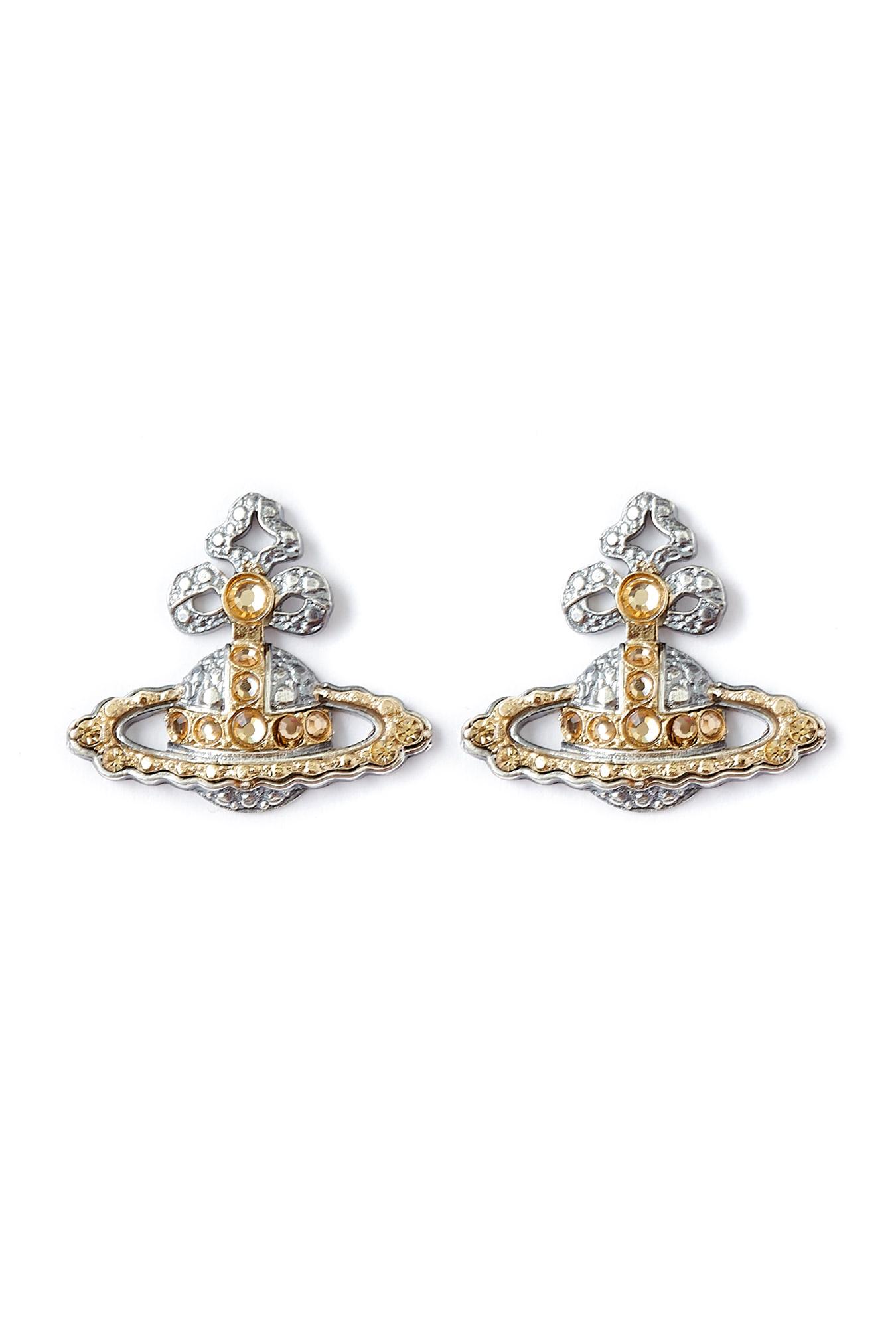 vivienne westwood georgian basrelief stud earrings in gold