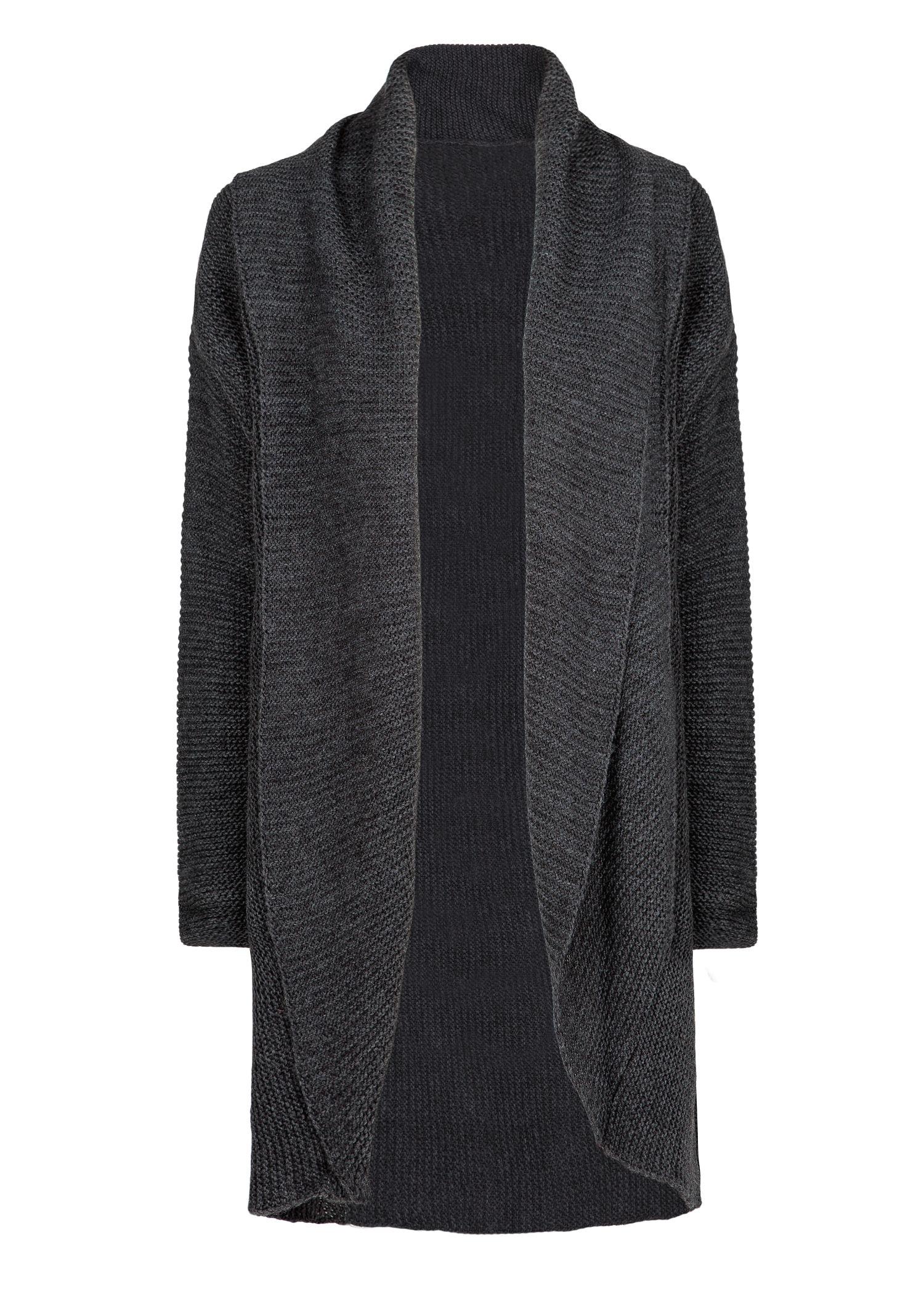 Mango Alpaca Woolblend Chunky Knit Cardigan in Gray | Lyst