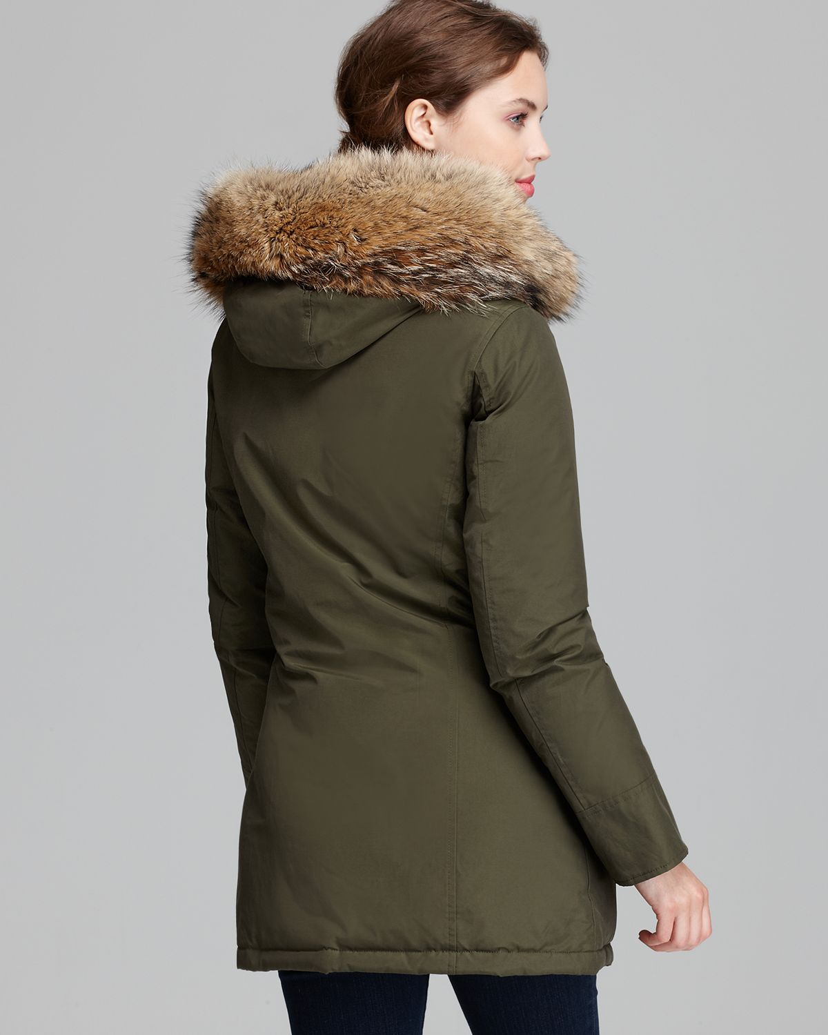 woolrich parka arctic a line in green lyst. Black Bedroom Furniture Sets. Home Design Ideas