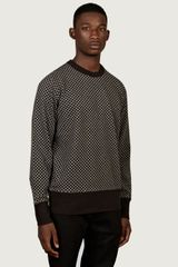 YMC Mens Checker Board Sweatshirt - Lyst