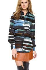 3.1 Phillip Lim Striated Shirt with Beading - Lyst
