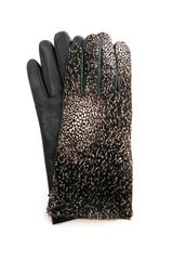 Agnelle Moka Ponyskin and Leather Gloves - Lyst