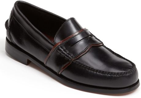 Bass Weejuns Colvin Beef Roll Loafer in Black for Men (Black/ Brown) - Lyst