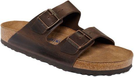 Birkenstock Arizona Leather Sandals In Brown For Men