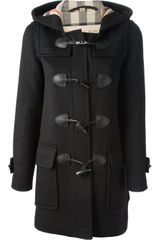 Burberry Brit Hooded Coat - Lyst