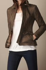 Burberry Fitted Diamond Quilt Jacket - Lyst