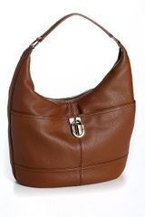 Calvin Klein Modena Pebbled Leather Hobo Bag - Lyst