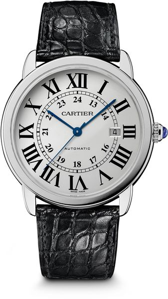 Cartier Ronde Solo Stainless Steel Leather Strap Watchextra Large - Lyst