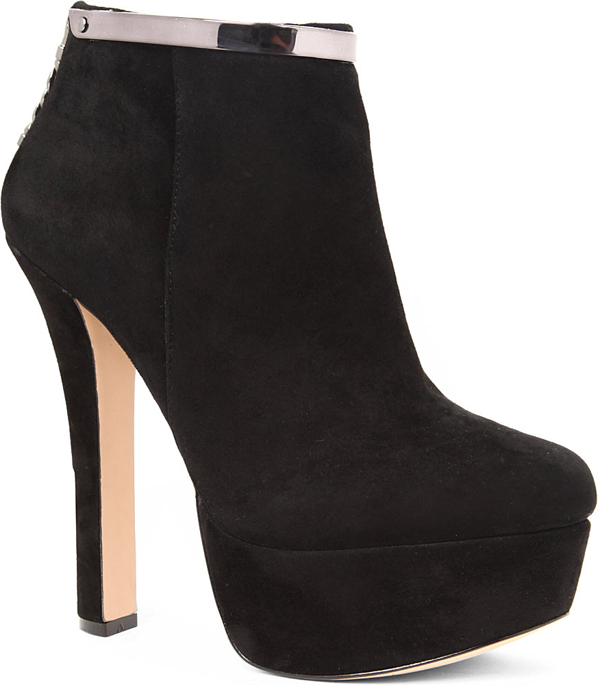 carvela kurt geiger carvela smile suede ankle boots in
