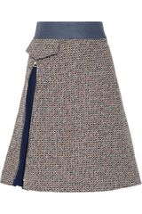 Chloé Wool blend Tweed A-line Skirt - Lyst