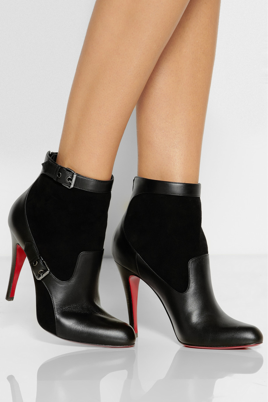 Lyst Christian Louboutin Canassone 100 Buckled Suede And