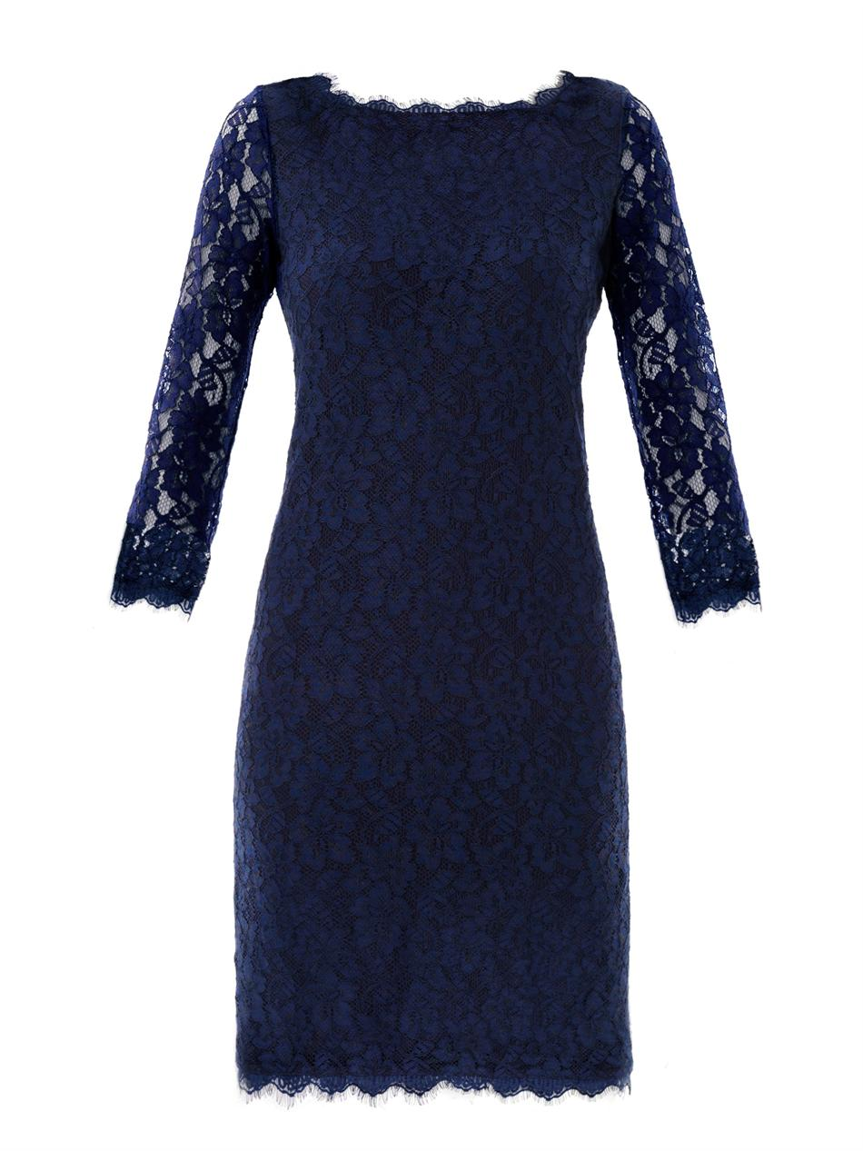 Diane Von Furstenberg Penny Washed Silk Dress In Blue