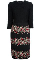 Dolce & Gabbana Dolce Gabbana Printed Lace Dress - Lyst