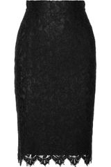 Dolce & Gabbana Lace Pencil Skirt - Lyst