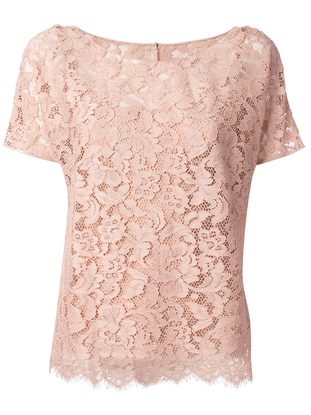 Lyst Dolce Amp Gabbana Lace Top In Pink