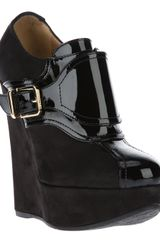 DSquared2 Dsquared2 Buckle Wedge Shoes - Lyst