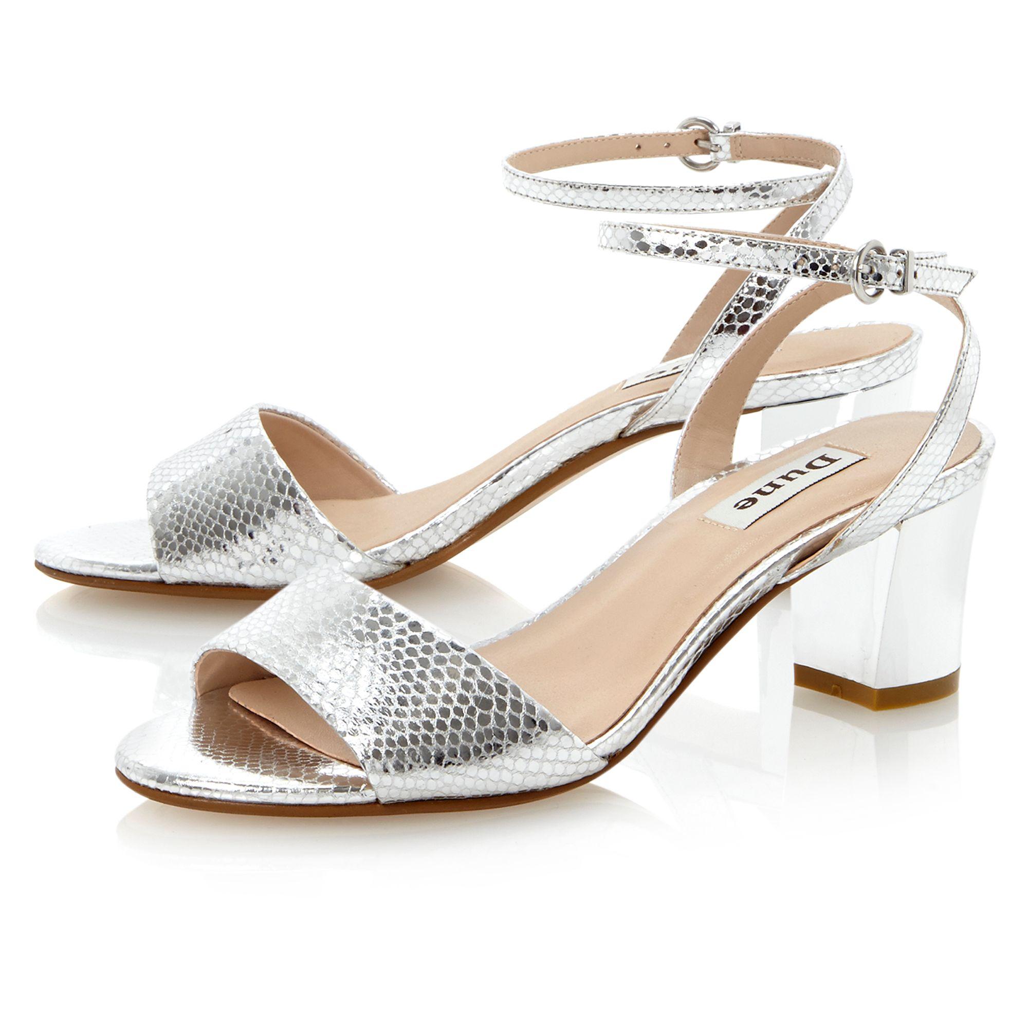 d84bc8367ea Silver Block Heels
