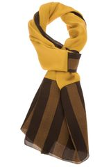 Fendi Fendi Silk Striped Scarf - Lyst