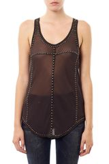 Isabel Marant Phil Studded Tank Top - Lyst