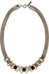 Isabel Marant Town Goldtone Agate Necklace - Lyst
